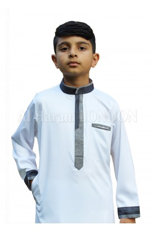 Designer Collar Boys Thobe-10033