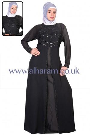 Front Slit Designer Abaya - 30010