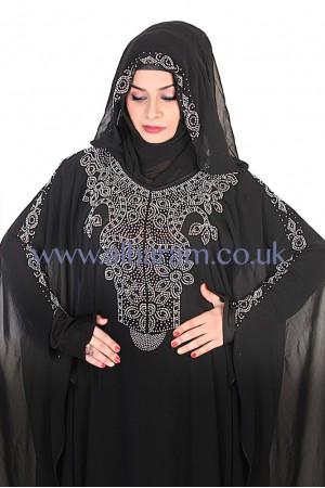 Lace Overcoat Abaya - 30022