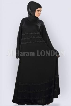 Classic Umbrella Lacey Abaya - 30263