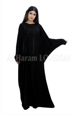 Belted Black Farasha Abaya - 30279