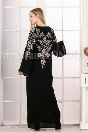 Back Blooming Party wear Abaya - 30299