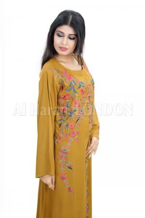 Warm Floral Romance Jalabiya Kaftan-50003