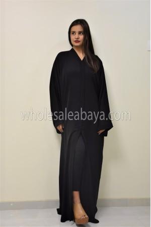 Classic plain Black Nida Abaya - 30051