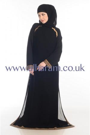 Layered Kameez Style Nida Abaya - 30062