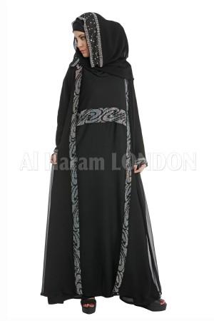 2pc Overcoat style Abaya- 30081