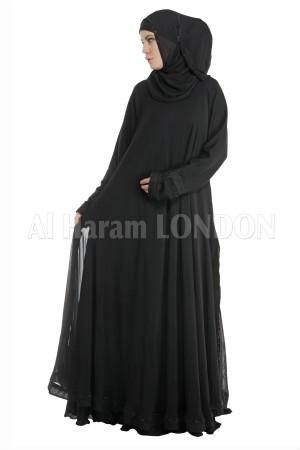 Plain Black Umbrella Nida abaya - 30082