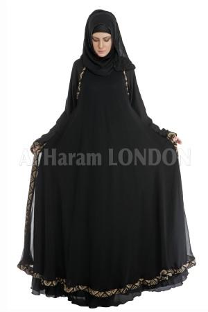 Golden bordered Umbrella  Abaya - 30083