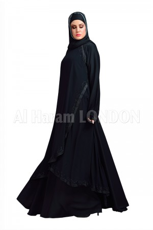 Chiffon Layer Umbrella  Abaya - 30125