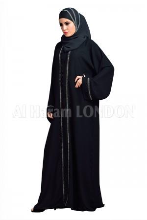 Everyday Open Black Nida Abaya - 30126