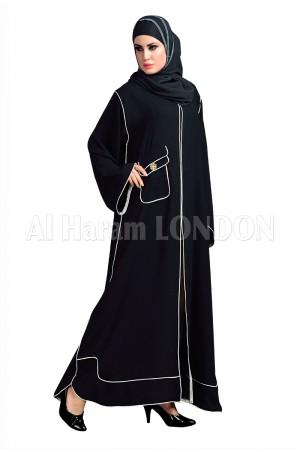 Plain Pocket Nida Abaya - 30127