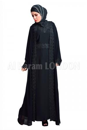 Dazzle Black O Black Abaya 30132