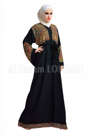 Colourful Front design Open Abaya - 30145