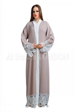Lacy Feminine Open Nida abaya - 30149