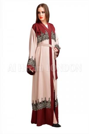 Contrasting Double shade Nida abaya - 30151