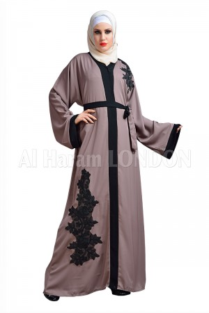 Black Muslim Open Nida abaya - 30158