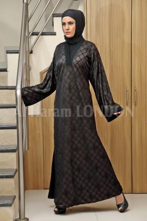 Chiffon Black Abaya Dress - 30175