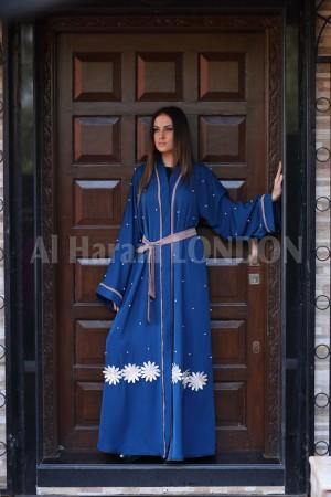 Flowing Lace Work Nida Abaya - 30177