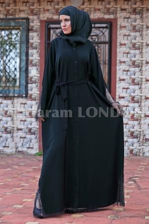 Intricate Net Designer Abaya - 30178