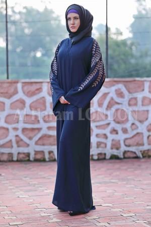 Designer Embroidered Open Abaya - 30191