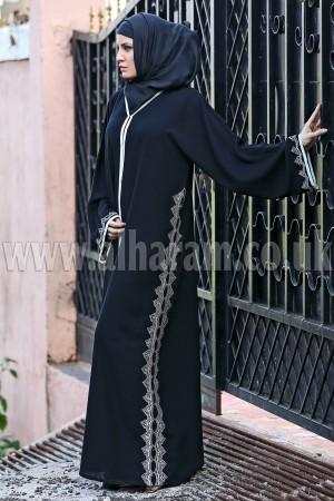 Vertical Designer Pine Nida Abaya - 30212