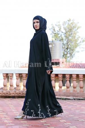 Gorgeous Black Designer Abaya - 30214