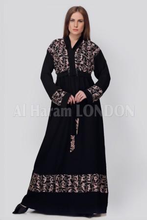 Belted Wrap Designer Abaya - 30227
