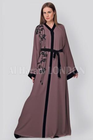 Floral Laser Cut Design  Abaya - 30239