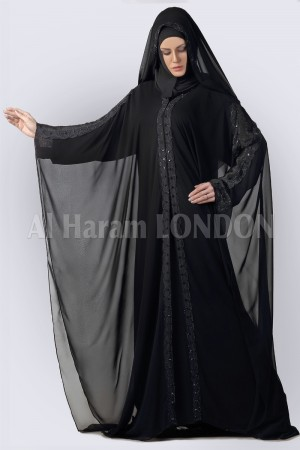 Chiffon Bat Sleeves Abaya - 30268