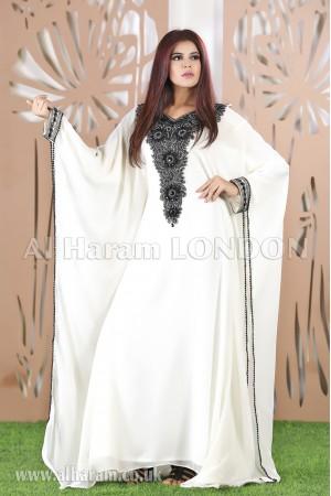 Black Stone Arabic Farasha Kaftan-40219