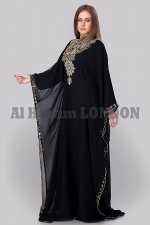 Classic Black Evenings Farasha Kaftan-40232