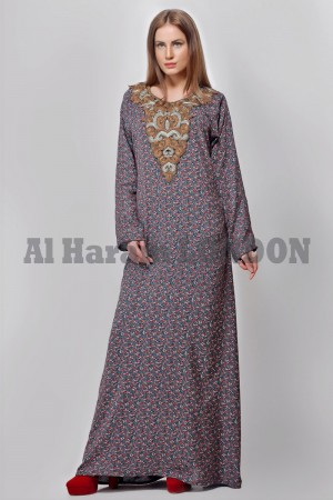 Embellished Handwork Designer Women Kaftan and Farasha 40238