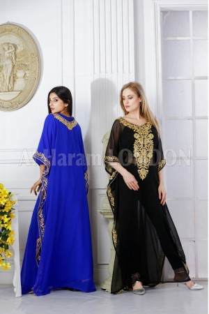 Party wear Embroidered Farasha Kaftan-40252
