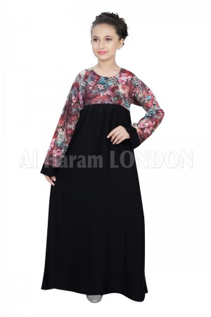 Dual tone Designer Girls Abaya 70065
