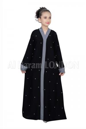Girls Designer Nida Abaya 70068