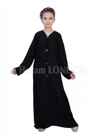Front Buttoned  Designer Abaya 70072