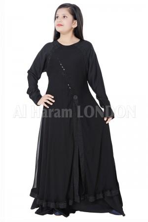 Classic Girls Flowly Designer Abaya 70077