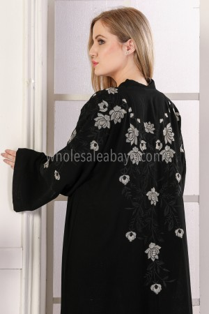 Delicate Back Blossom  Abaya - 30298