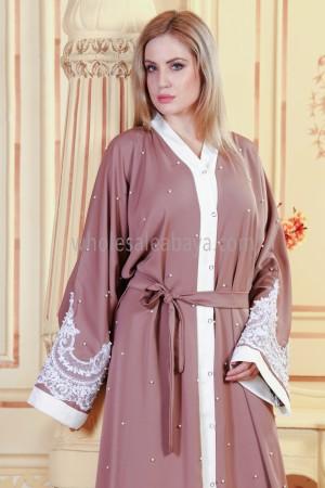 Shinny Lace Romantic Abaya - 30313