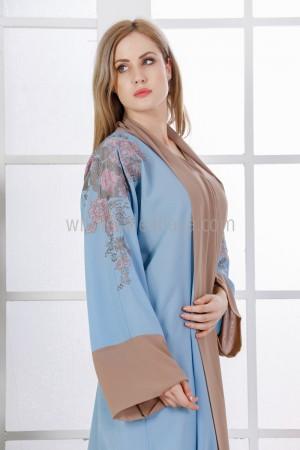 Colourful Back Blossom Abaya - 30314