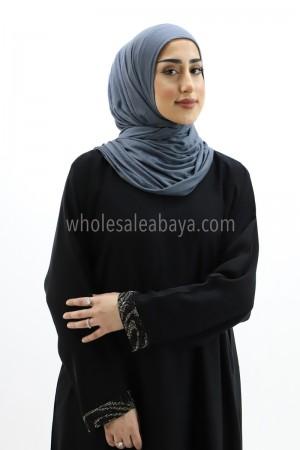 Nida Plain Abaya with Stonework 30270