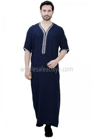 Moroccan Style Men's Thoube Half Sleeve 90040