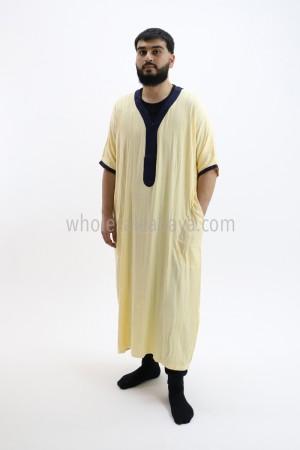 Moroccan Style Men's Thoube Half Sleeve 90040 B