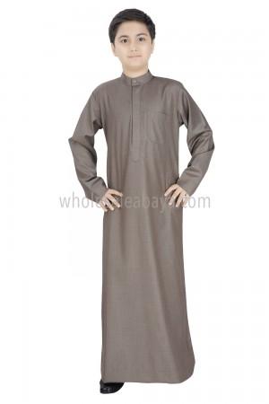 Boys Daffah Style Plain Collar Thoube 10010 NS