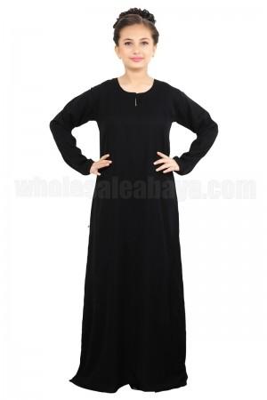 Discreet Plain Nida Imported Fabric Dubai Abaya - 70091