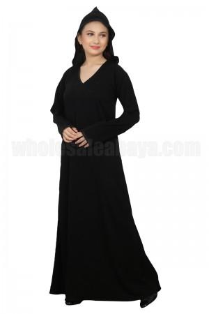 Edify the Modesty with Hoody Nida Dubai Imported Fabric Abaya - 70092