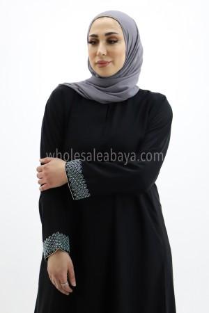 Nida Plain Abaya with Pearl Work 30270 P