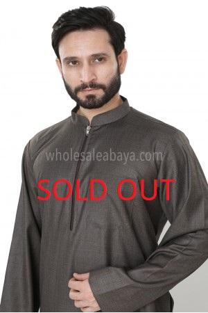 Men's Plain Zip Collar Thoube  Winter Collection 90034 WN