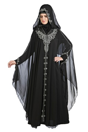 Front open abaya with diamanté hand work, set of 12 occasion wear designs 40000MIX