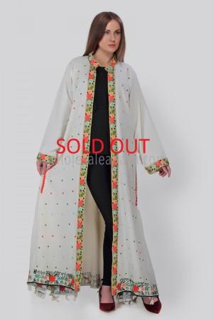 Elegant White Linen Overcoat 40237